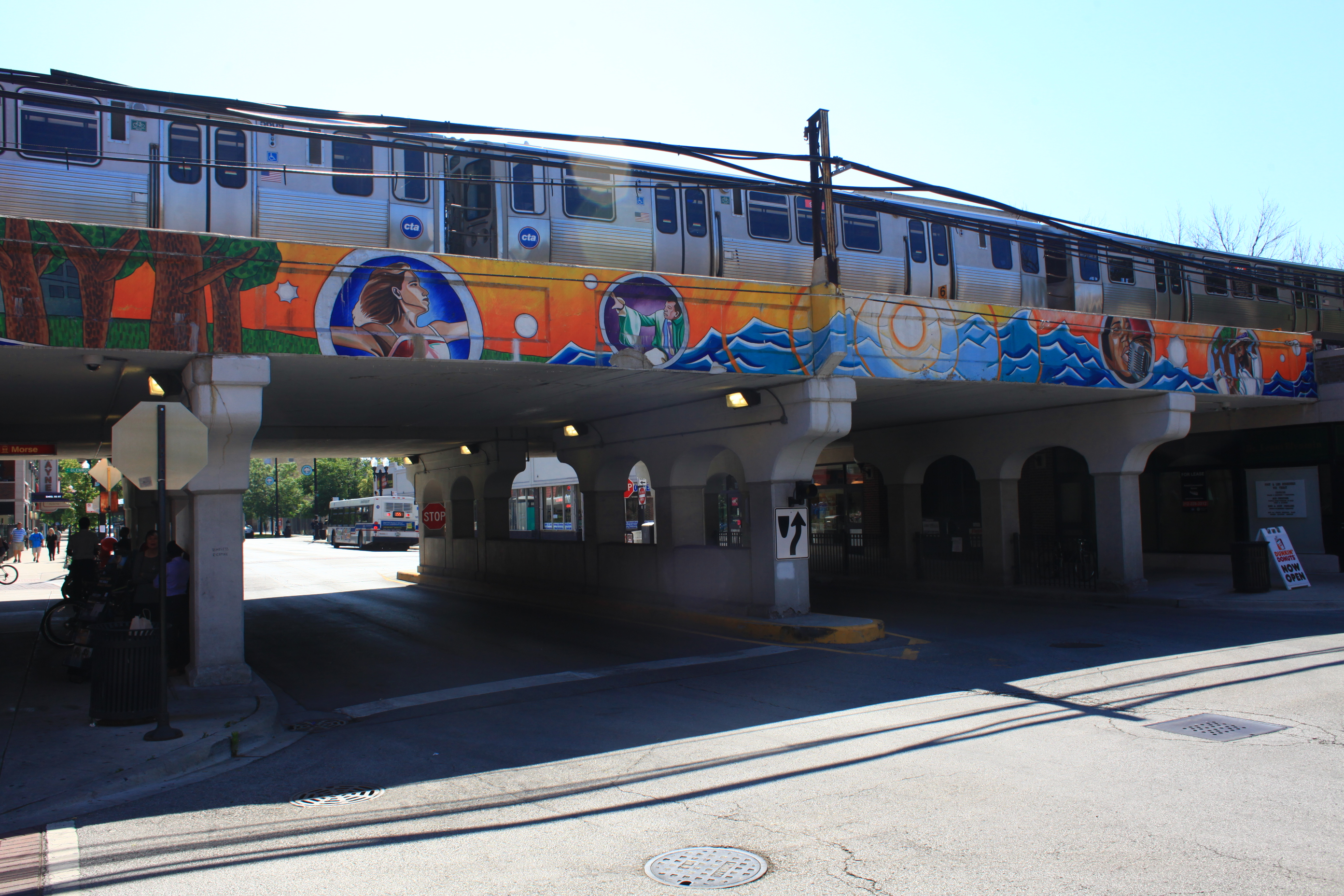 Mile of Murals on Morse & Glenwood viaduct