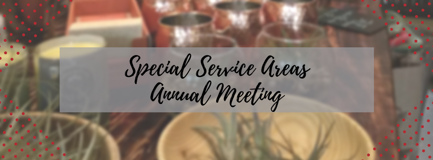 Special Service Areas Annual Meeting
