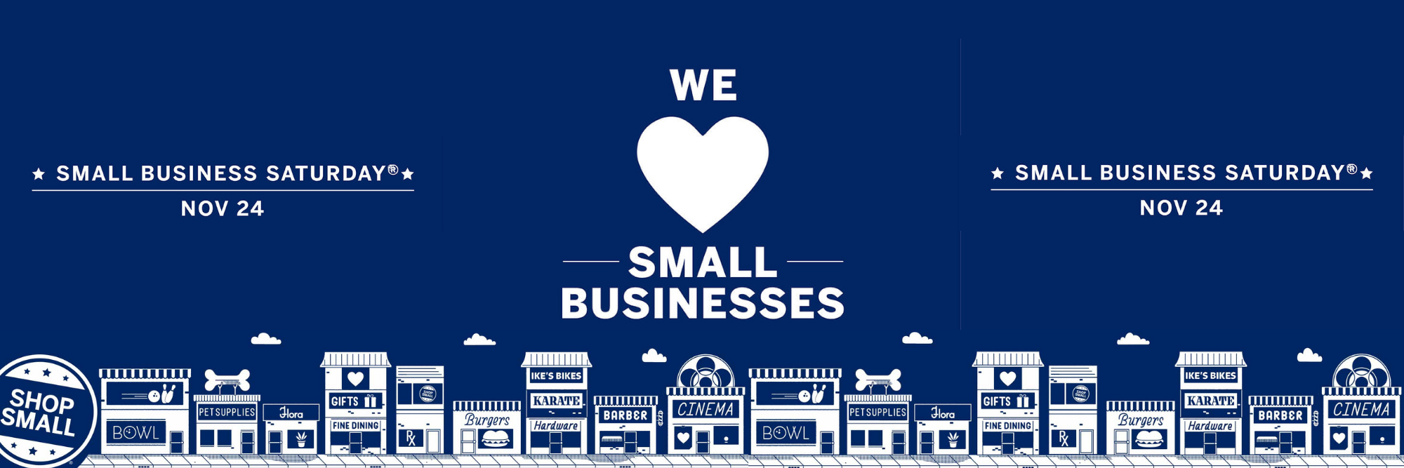 Small Business Saturday Welcome Station
