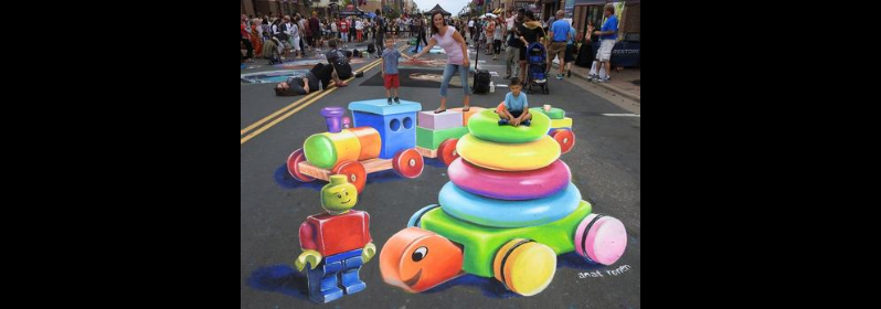 Rogers Park 3D Chalk Fest Moving Online Starting Friday